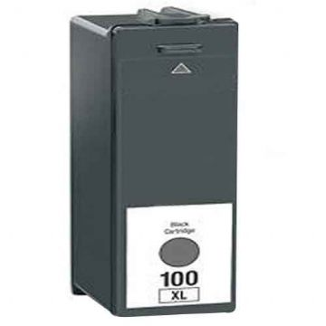 Refurbished High Capacity Black Lexmark 100XL Ink Cartridge (Replaces 014N1068E Ink)
